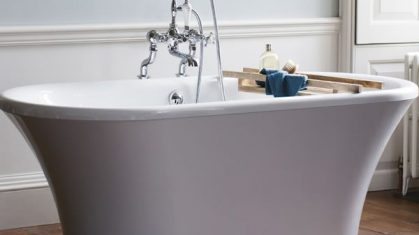 Light Pink Freestanding Bath