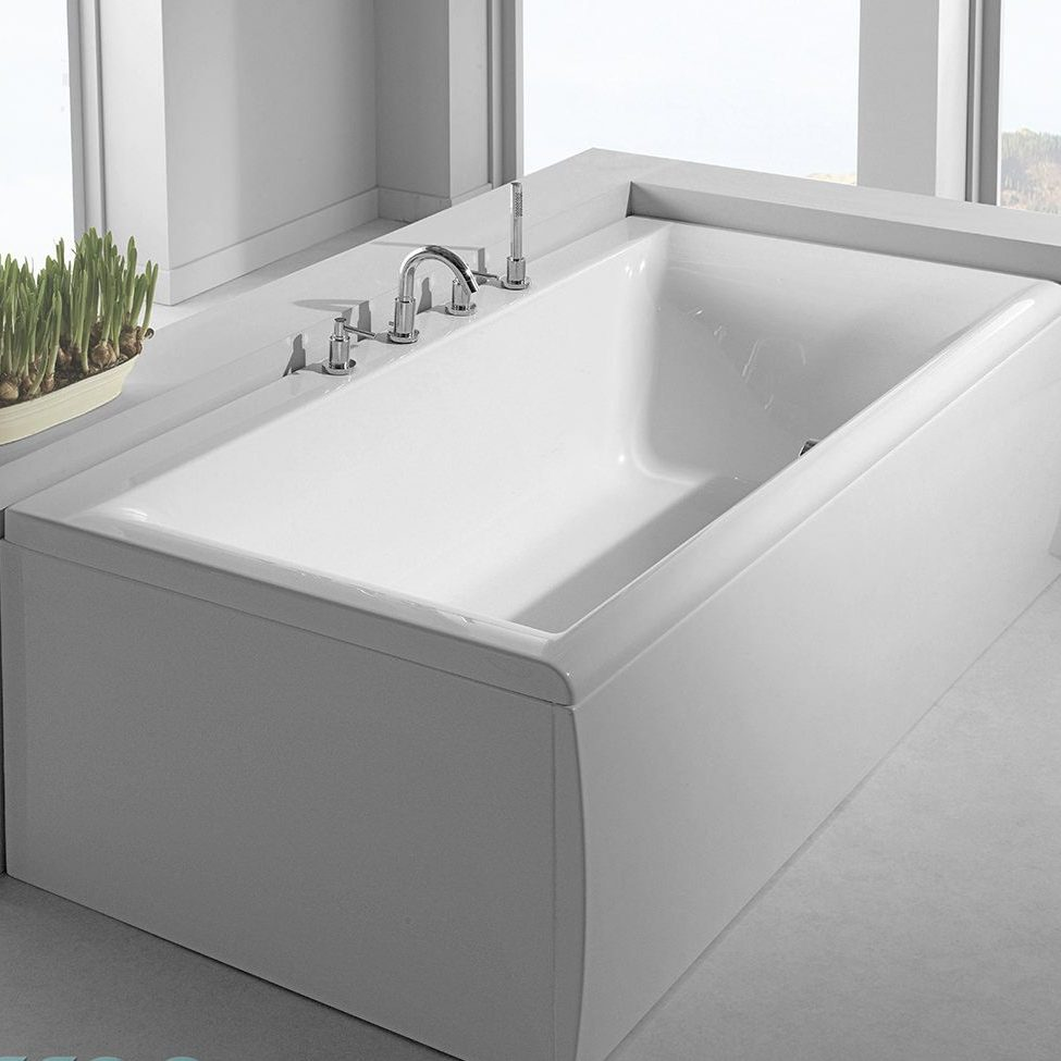 Large Grey Free Standing Bathtub