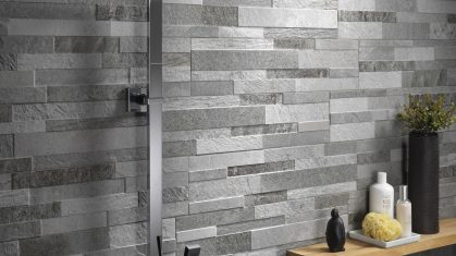 Grey Ceramic Tiles in Shower
