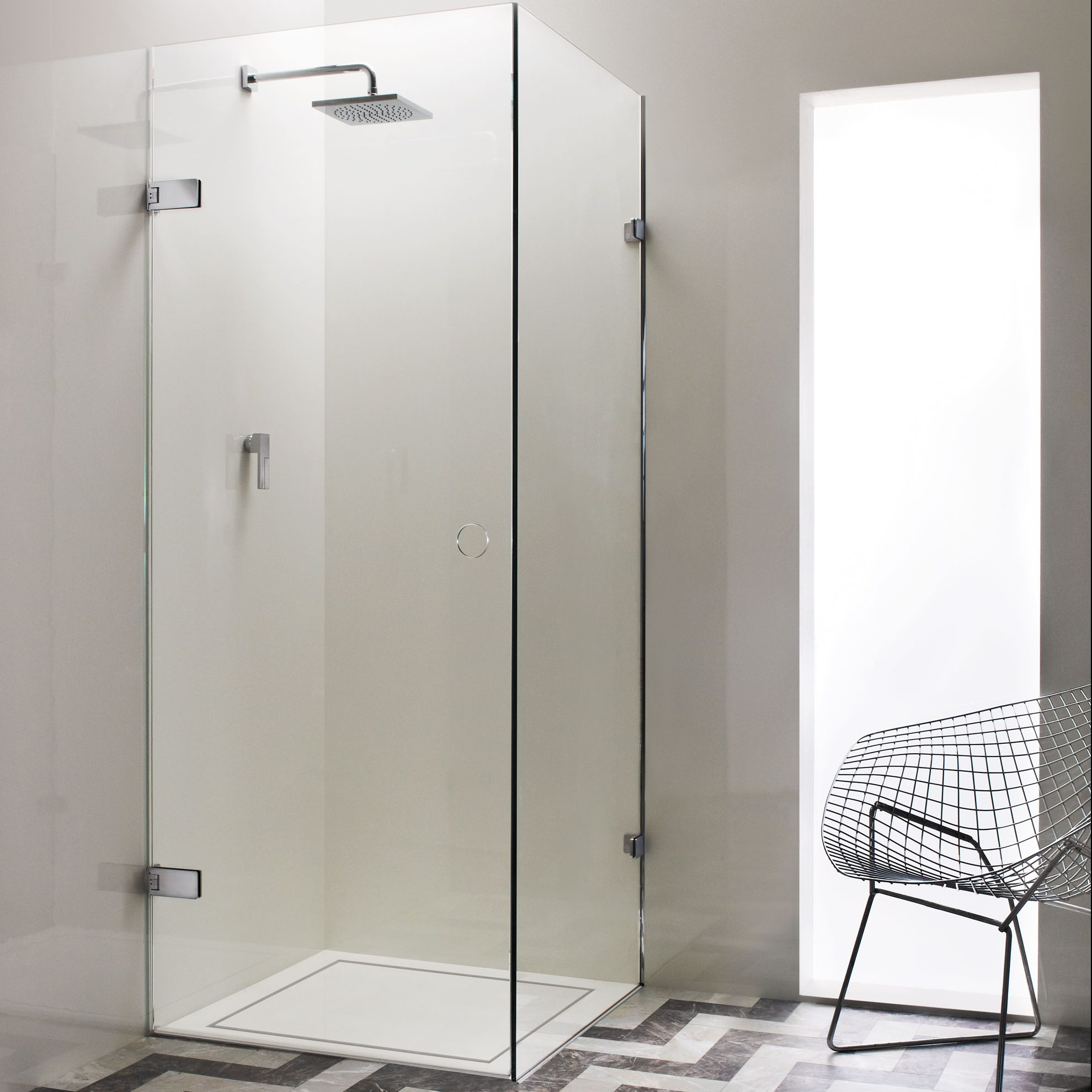 Small Glass Corner Shower