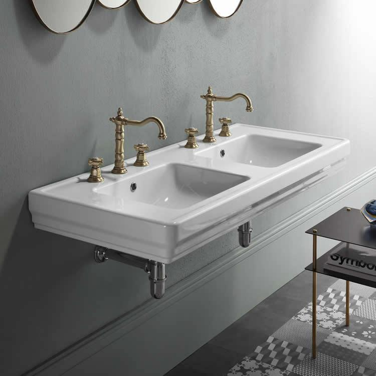 Classic Style Double Sink Basin