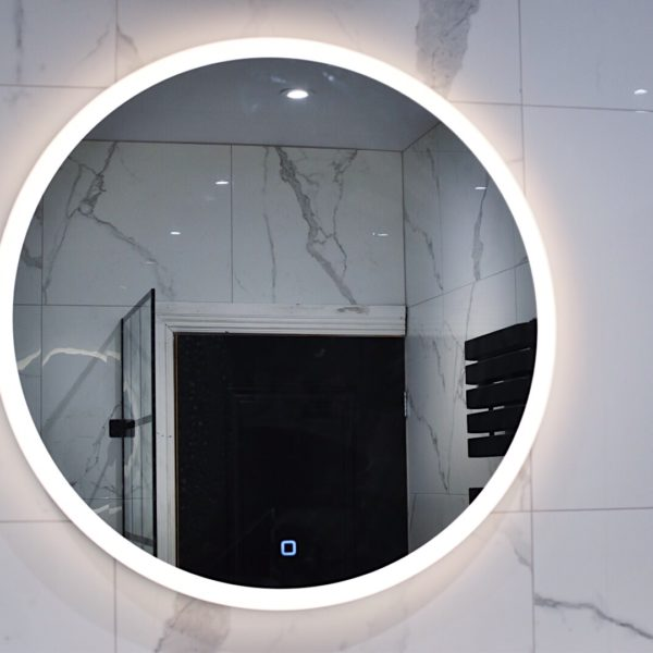 Circular Bathroom Mirror with Light
