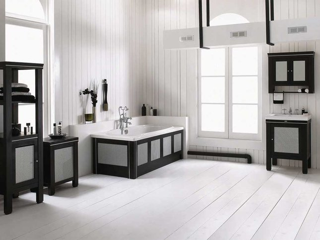 imperial design bathroom black and white
