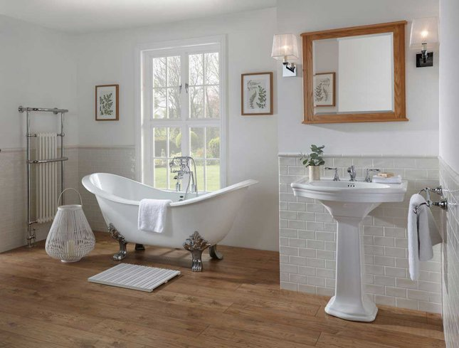 imperial bathroom white wood and cream
